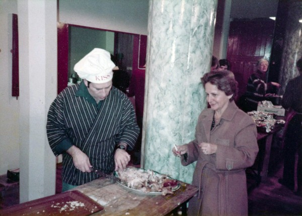World renowned playwright, Arnold Wesker, carves a turkey for older people who would be otherwise alone on Christmas Day.