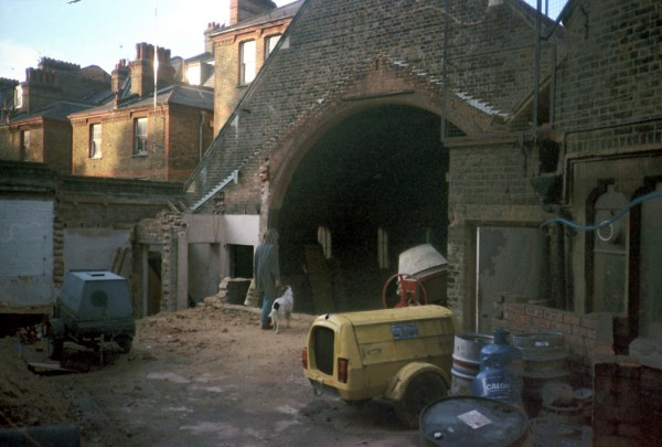 Work begins to build a new auditorium within Jacksons Lane during the 1980s