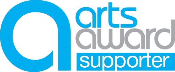 Text logo for Arts Award Supporter